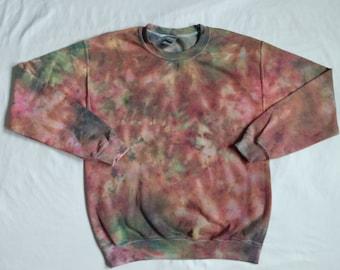 Adult Unisex Tie Dye Crewneck Sweater Small
