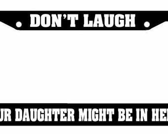 JDM Keep Calm Pitbull Mom Race Drift Low Turbo Black License Plate Frame USA2 OG