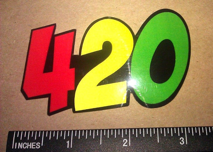 "x2 Two Pack of THC MOLECULE Sticker Vinyl Decal 420 Dope 7.5/"" Inches Long"