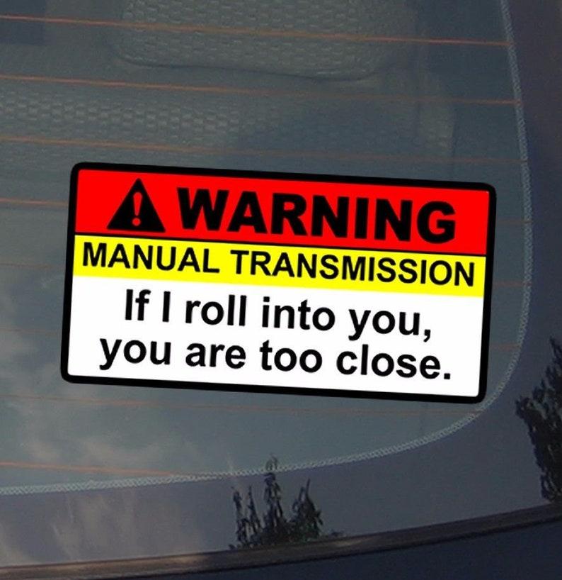 "Vehicle 2 PACK 5/"" F*cking Fast Warning No Bra Self Adhesive Sticker Decal"