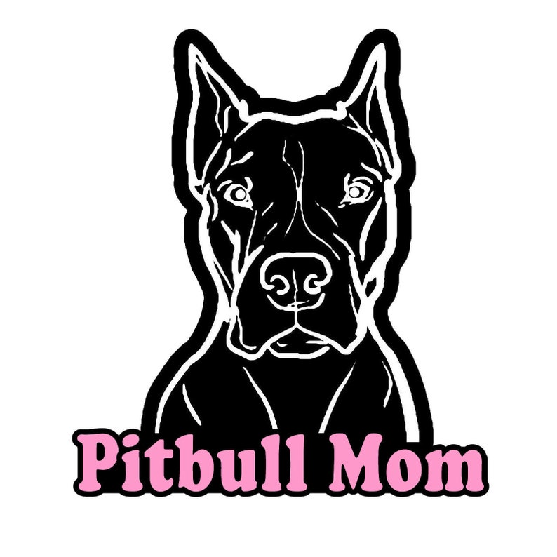 Pitbulls Label Car Bumper Sticker Decal 4/'/' x 5/'/'