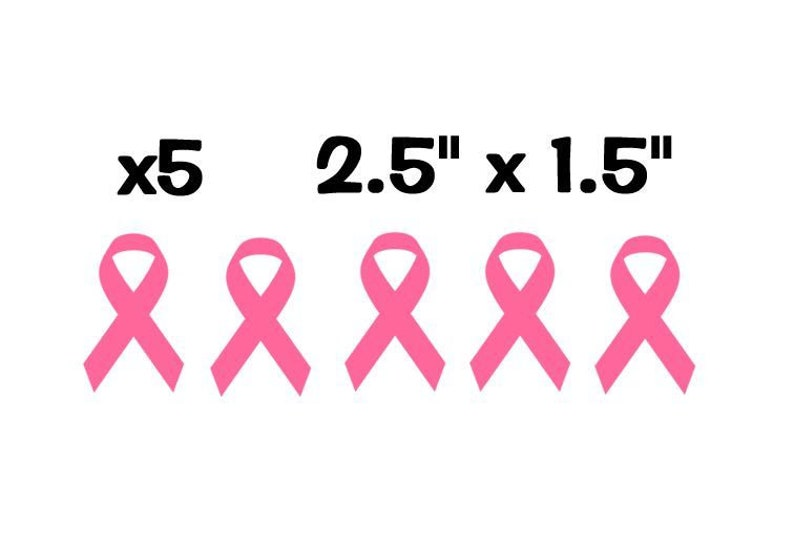 Breast Cancer Pink Ribbon Vinyl Decal Sticker 100/% Waterproof
