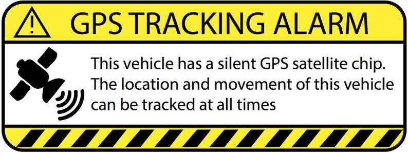 "3.5/""BlkMod 4 Automotive Car Truck SECURITY ALARM GPS Auto Theft Decal Stickers"