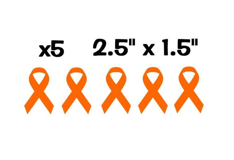 "Believe Orange Ribbon Leukemia Awareness Auto Decal Sticker 6/"" Digital Print"