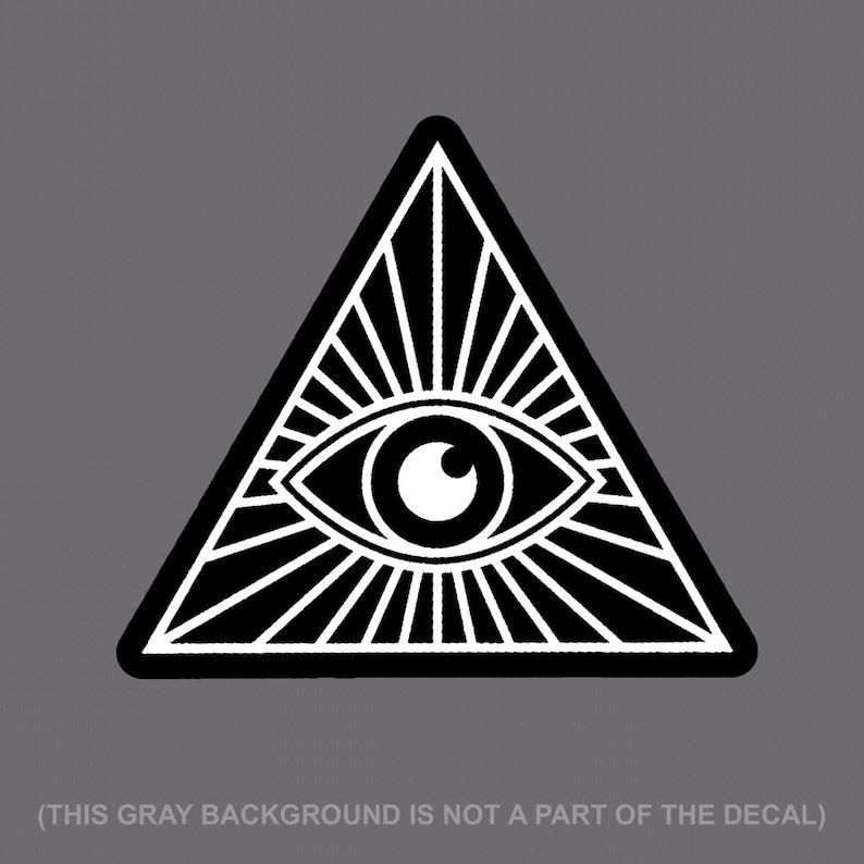 The Eye Masonic Vinyl Decal Sticker Car Window Wall Printed