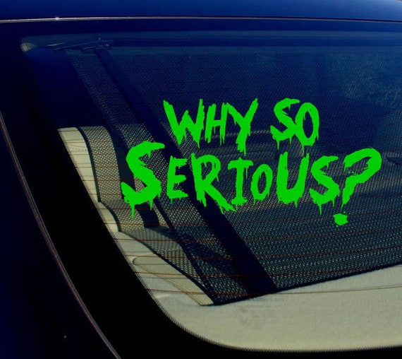 Joker Why So Serious #2 Super Bad Evil White License Plate Frame