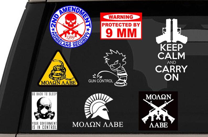 4 Pack Customize Right Molon Labe Stickers
