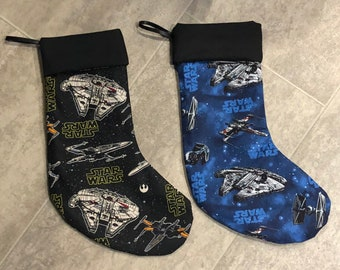 Star Wars Christmas stockings space fighter ships