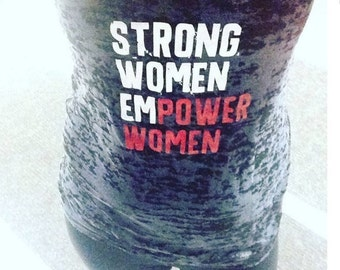 Strong Women Empower Women Black and Red