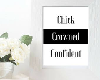 """Rock Your Crown """"Chick Crowned Confident"""" 2 Wall Art"""