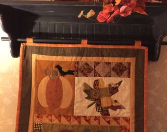 Autumn quilt for wall display