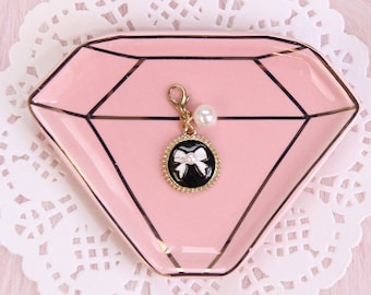 Couture Bow with Faux Pearl Planner Charm
