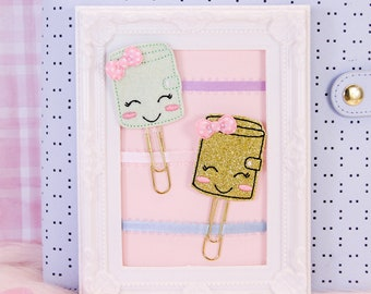 Kawaii Happy Planner Clips | Planner Accessories, Bookmarks, Stationery Gifts