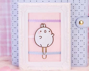 Kawaii Bunny Rabbit Planner Clip | Planner Accessories, Bookmarks, Stationery Gifts