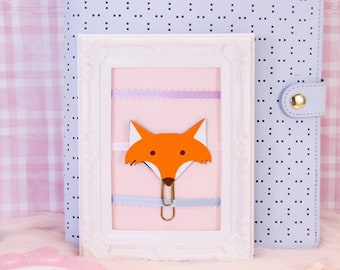 Fox Planner Clip | Planner Accessories, Bookmarks, Stationery Gifts