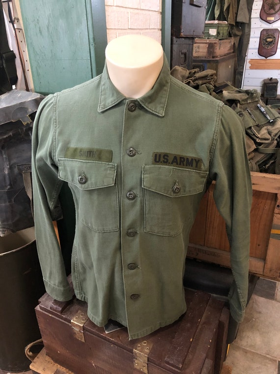 Vintage Army OG 107 Shirt Size Large