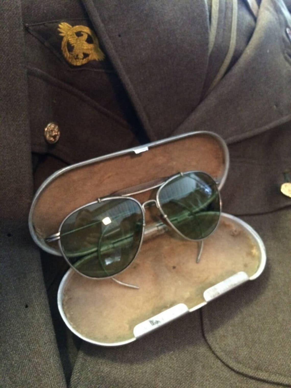 1940's Bausch & Lomb Military Aviator Sunglasses w/case