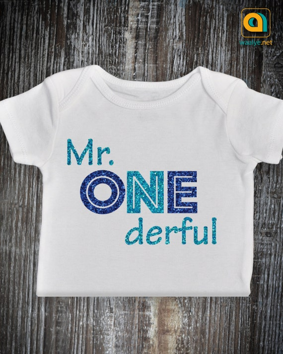 Mr Onederful Outfit 1st Birthday Baby Boy Onesie One Year
