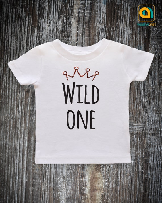 Wild One Birthday Boy Shirt Baby Crown