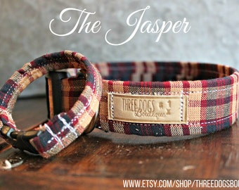 """Dog Collar with optional bff bracelet """"The Jasper """"FREE SHIPPING