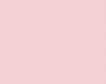 Swiss Dot Baby Pink Fabric - Riley Blake Designs Basic fabric - Quilting Fabric - Cotton Fabric