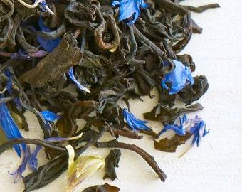 BLUEBERRY BOOST - Organic loose tea, luxury loose leaf black tea, antioxidant rich organic blueberry tea blend