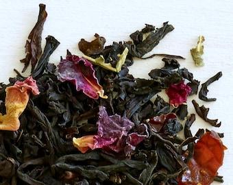 LOVE TEA #8 - Organic loose leaf black tea, gift for her, top selling mom gift, tea lover gift, oh-so romantic loose leaf rose tea