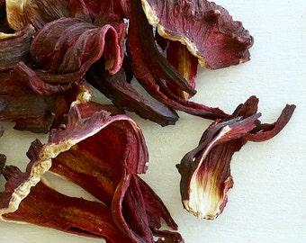 HIBISCUS TEA - Organic Loose Tea, Top Selling Item for Mom, Organic loose leaf herbal tea, signature deep red color and lip-puckering taste