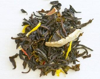POMEGRANATE DELIGHT VANILLA - Organic Loose Leaf Tea, Luxury loose black tea, Organic hand blended loose leaf tea