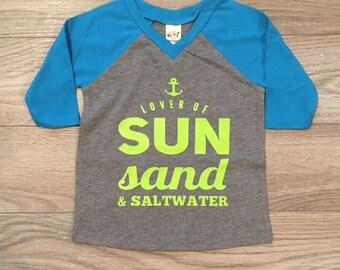 SUN SAND SALTWATER raglan