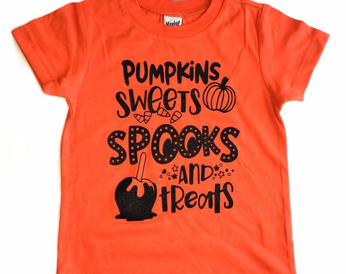 Featured listing image: PUMPKINS SPOOKS & TREATS shirt