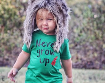 NEVER GROW UP shirt