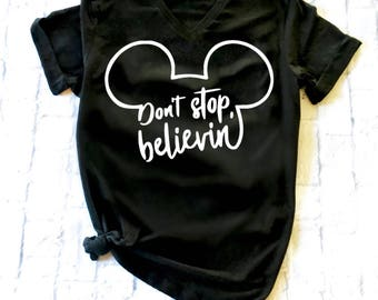 BELIEVE MICKEY womens shirt