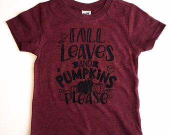 FALL LEAVES shirt