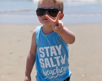 SALTY BEACHES tank top