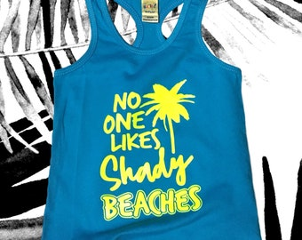SHADY BEACHES racerback tank top