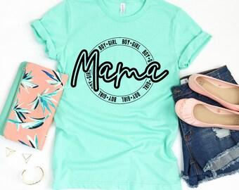 BOY & GIRL MAMA shirt