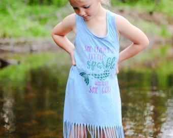 SPARKLE MERMAID fringe dress