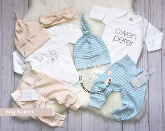 e9f210f92a Twins Coming Home Outfits Newborn Outfit Baby Boy Outfit Baby Girl Outfit  Personalized Outfits Twin Boy Girl Gender Neutral