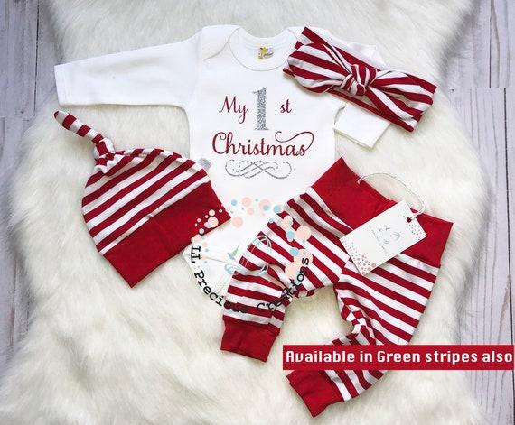 My first Christmas baby girl outfit baby girl Christmas