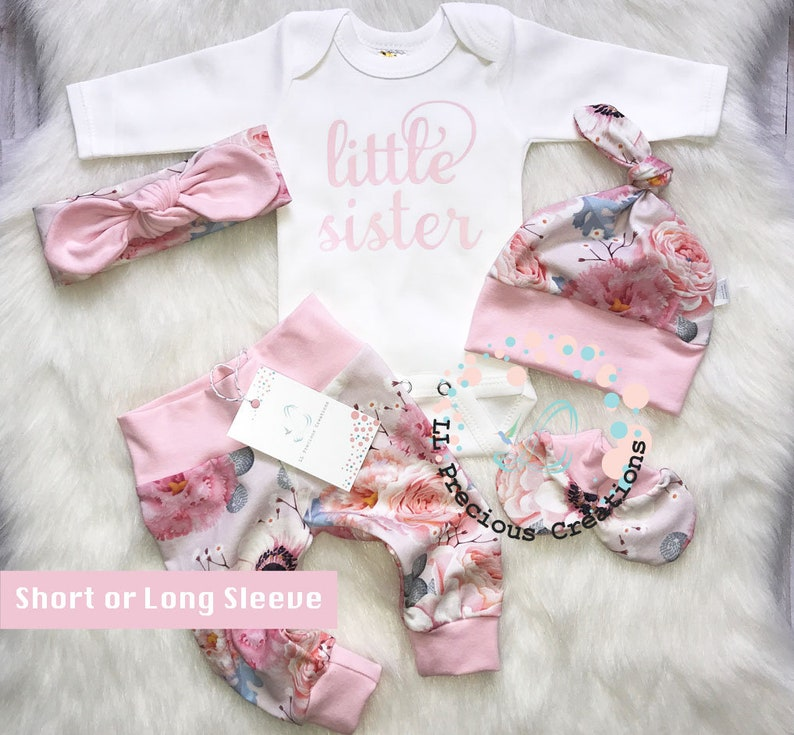 b3917e69913c Newborn Baby Girl Baby Girl Clothes Coming Home Outfit Organic