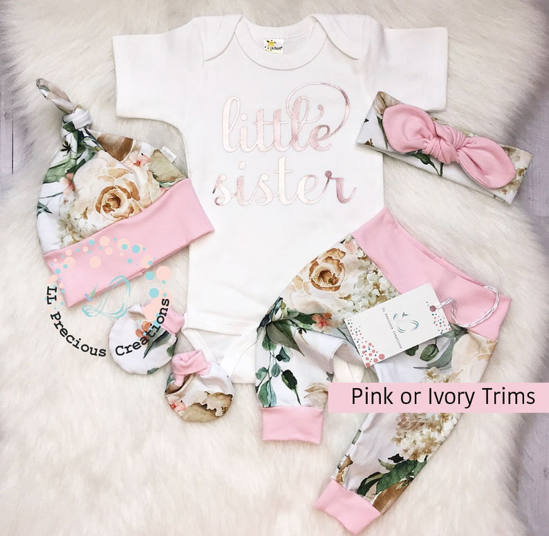 0df7c2abe4d4 Newborn Coming Home Outfit Baby Girl Clothes Pink Mint Floral