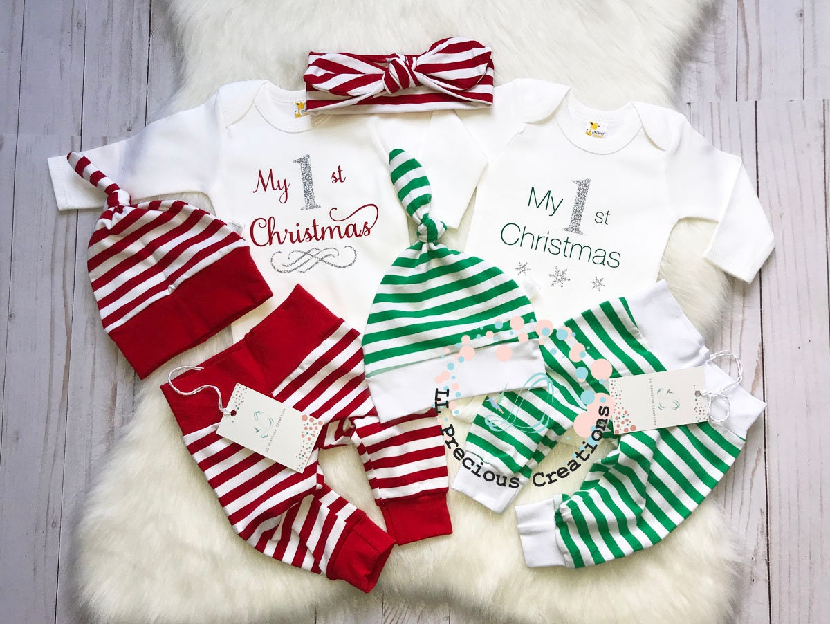 My First Christmas Newborn Outfit Twin Coming Home Outfits | Etsy