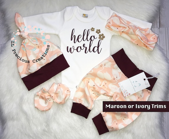 Worth the Wait Baby Girl Clothes Newborn Girl Outfit Coming Home Outfit Mint Pink Floral Baby Shower Gift Mom to Be Gift