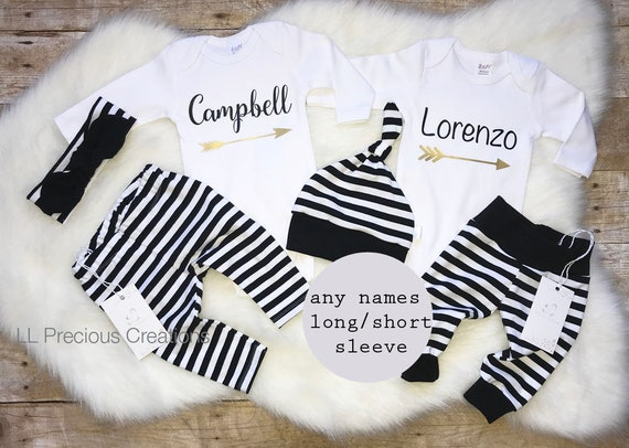 9856ee0c0 Twins Coming Home Outfit Newborn Outfit Baby Boy Outfit Baby | Etsy