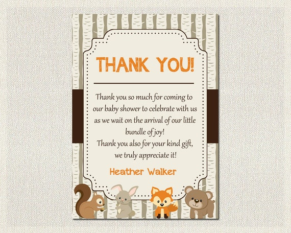 Baby Shower Thank You Card Boys Girls Gender Neutral Etsy