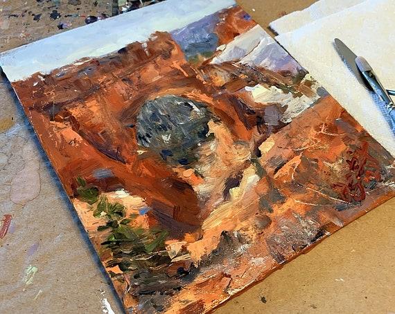 """""""Bryce Canyon Study"""" - 10""""x8"""" - Acrylic on Panel"""