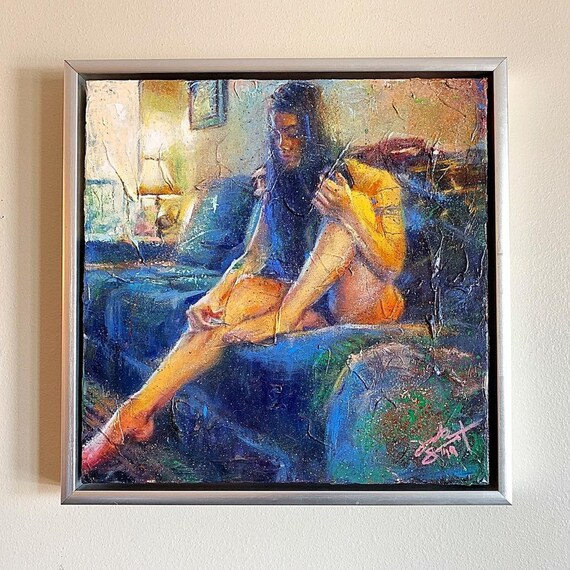 """The Space Between"" - 16""x16"" - Acrylic on Gallery Wrapped Canvas - FRAMED"
