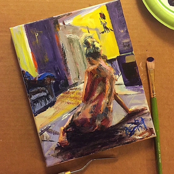 """Seated Figure Study"" - 10""x8"" - Acrylic on Canvas"