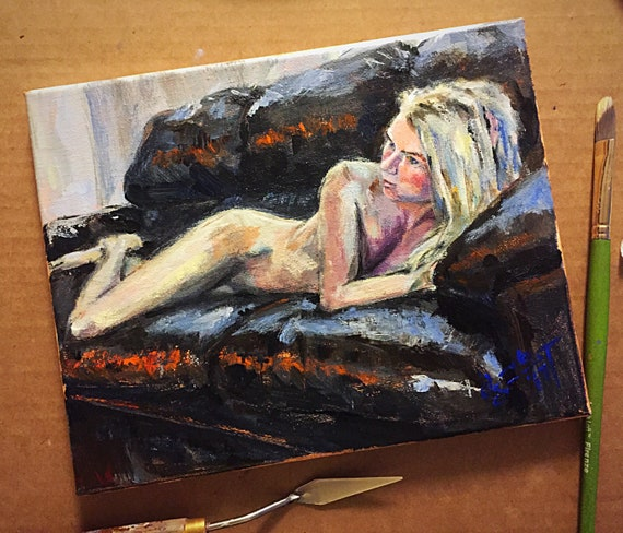 """Laying Figure Study"" - 8""x10"" - Acrylic on Canvas"